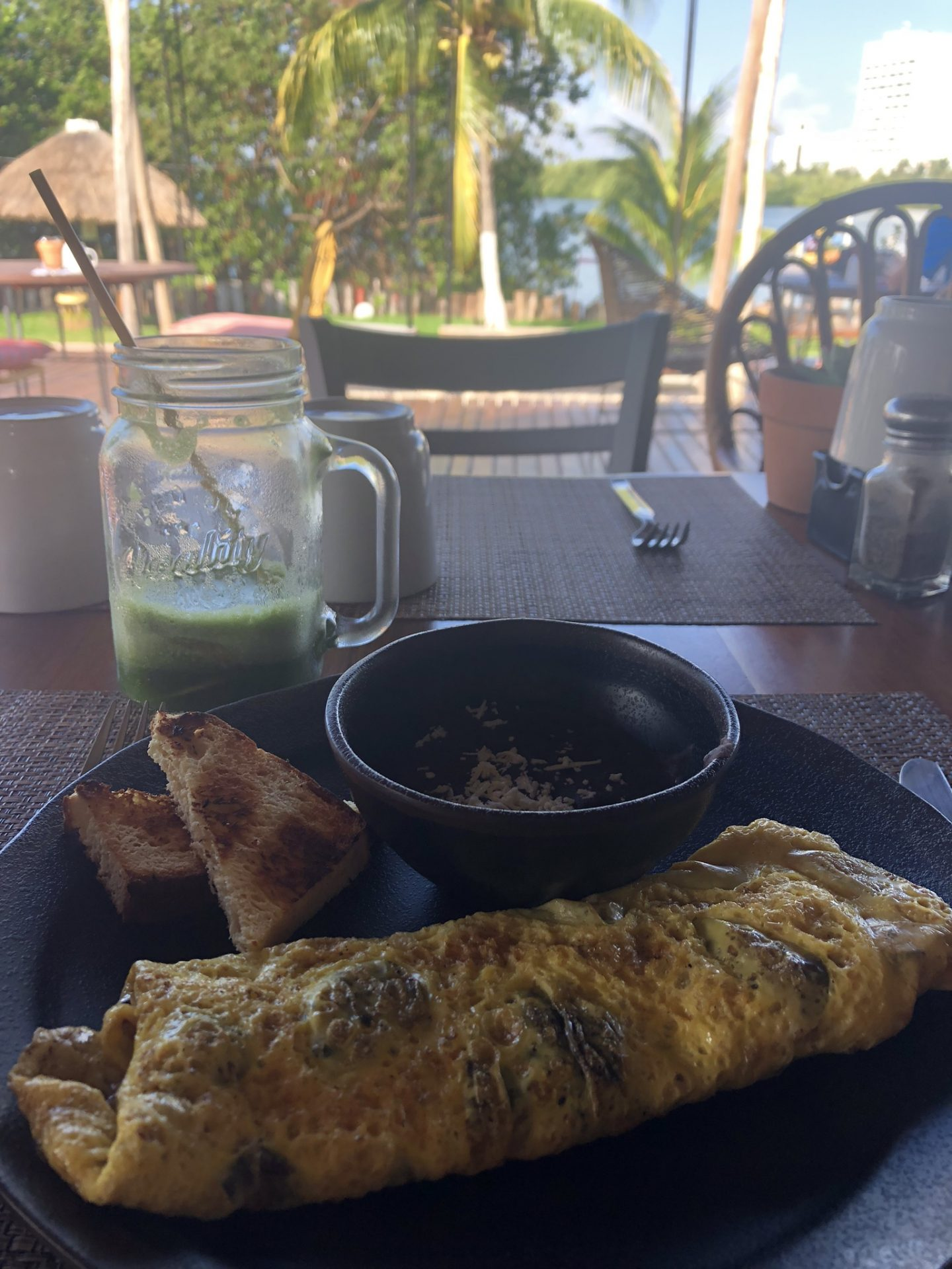 Omelette at Selina, Cancun in Mexico