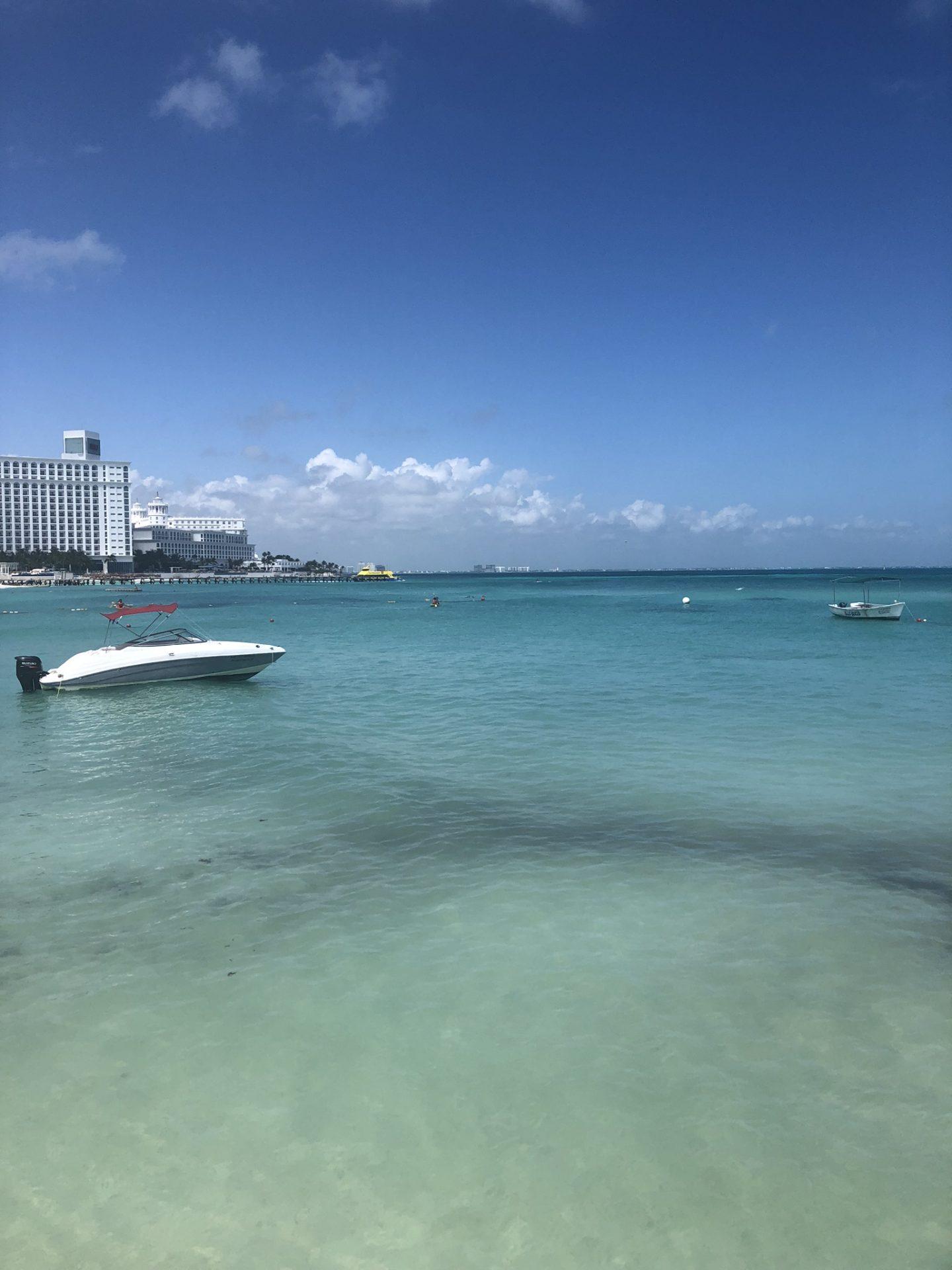 Cancun beach at Hotel Ziva, Mexico