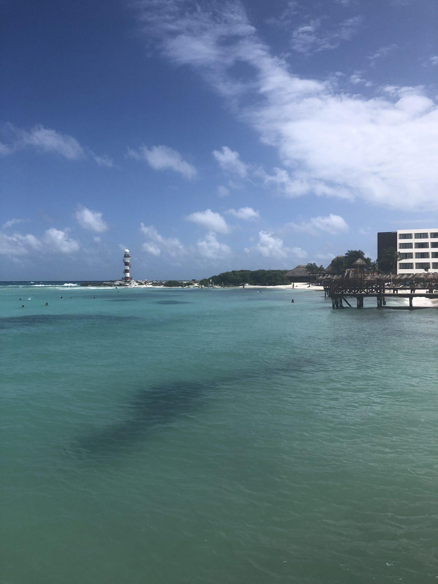 Beautiful Caribbean sea in Cancun, Mexico