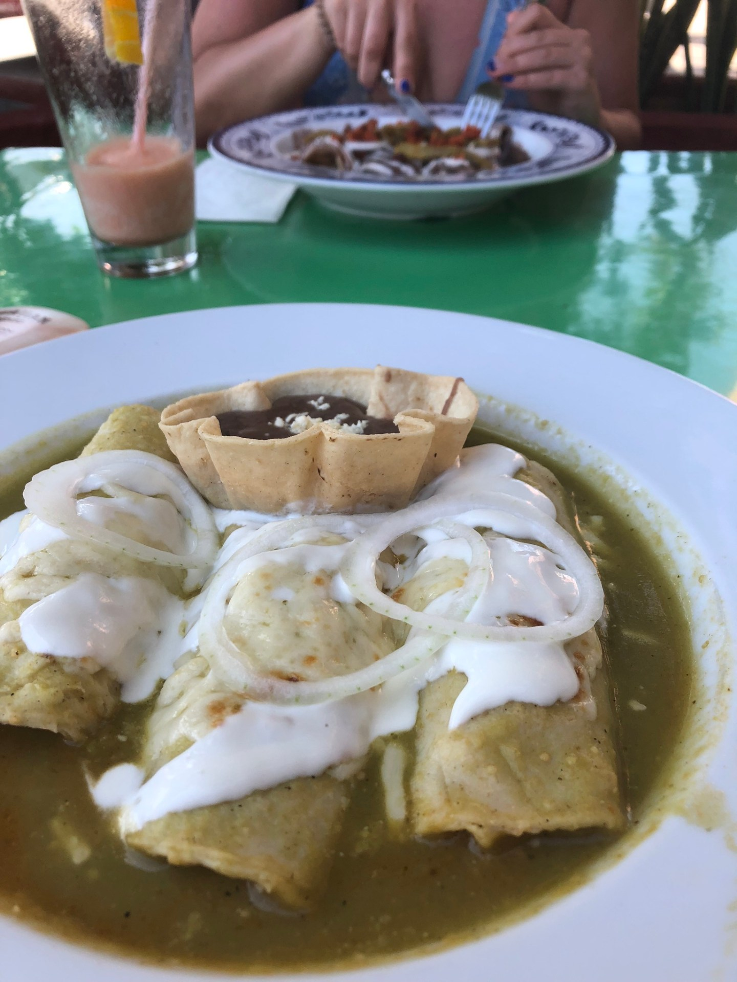Enchiladas in Cancun, Mexico