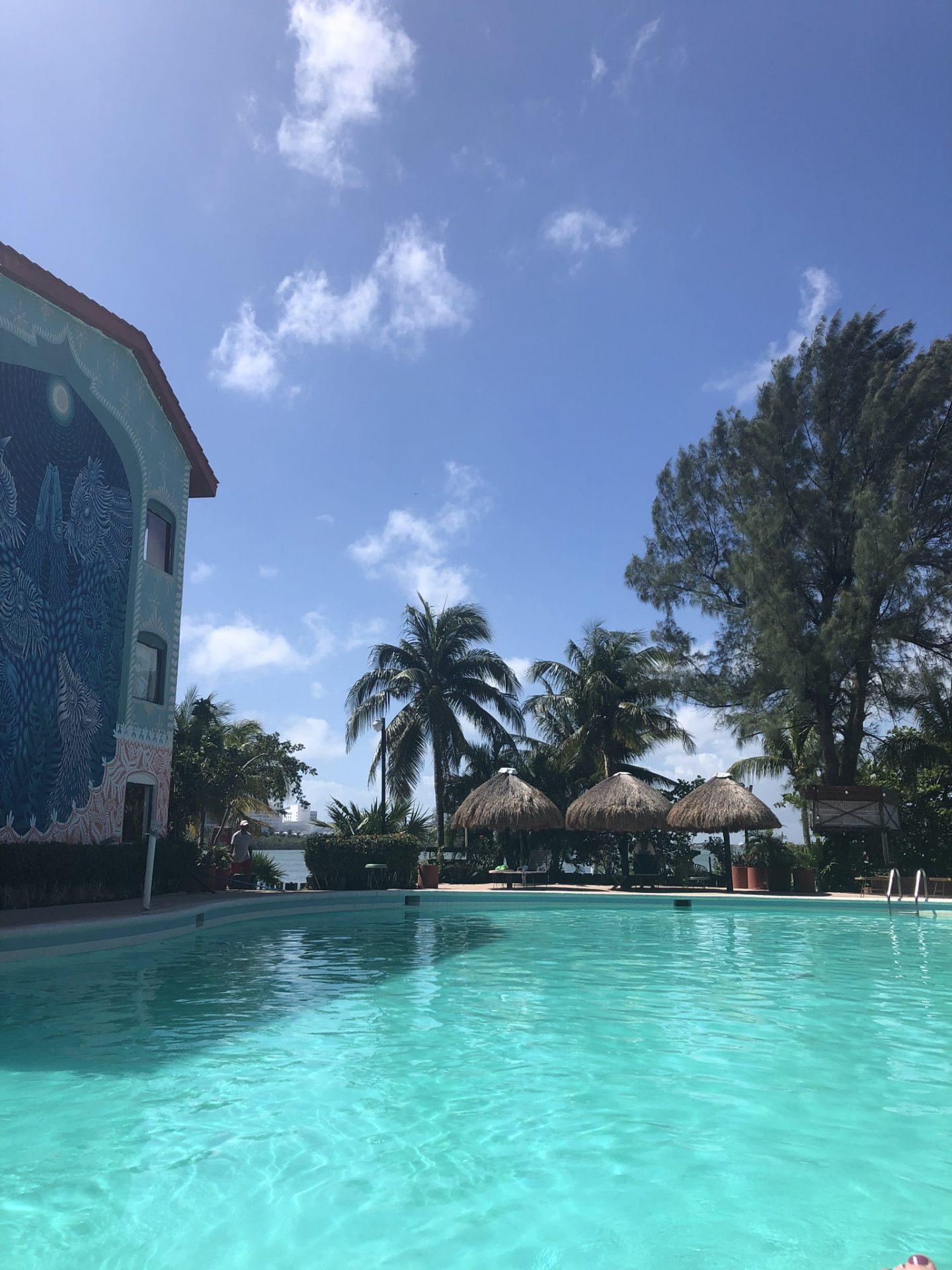 The pool at Selina, Cancun