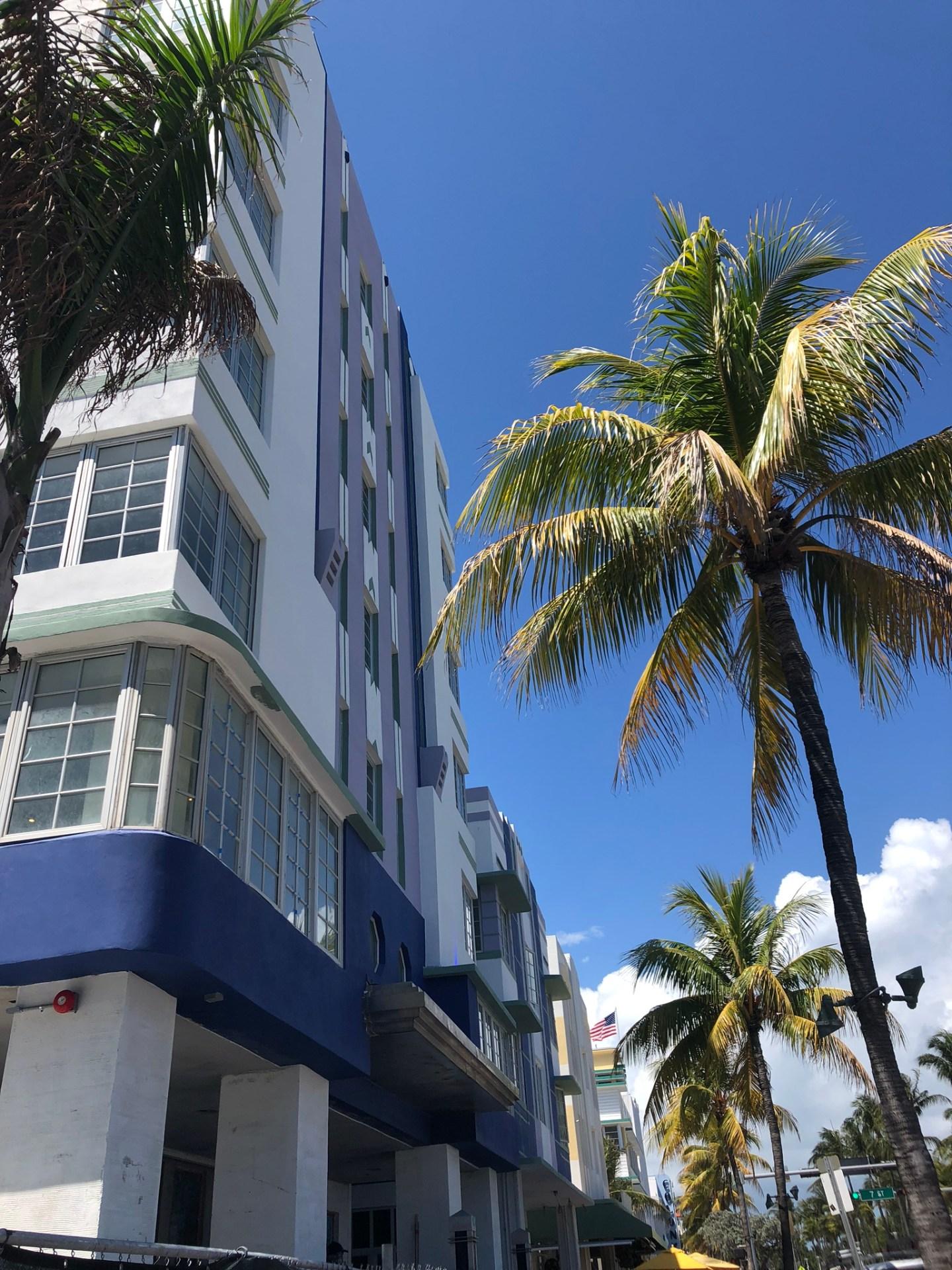 Art deco hotels on Ocean Drive