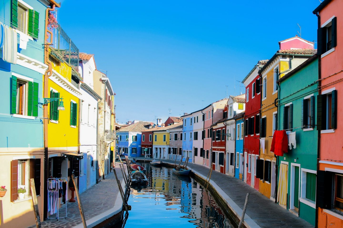 Burano, Venice, Italy is one of the world's most colourful cities