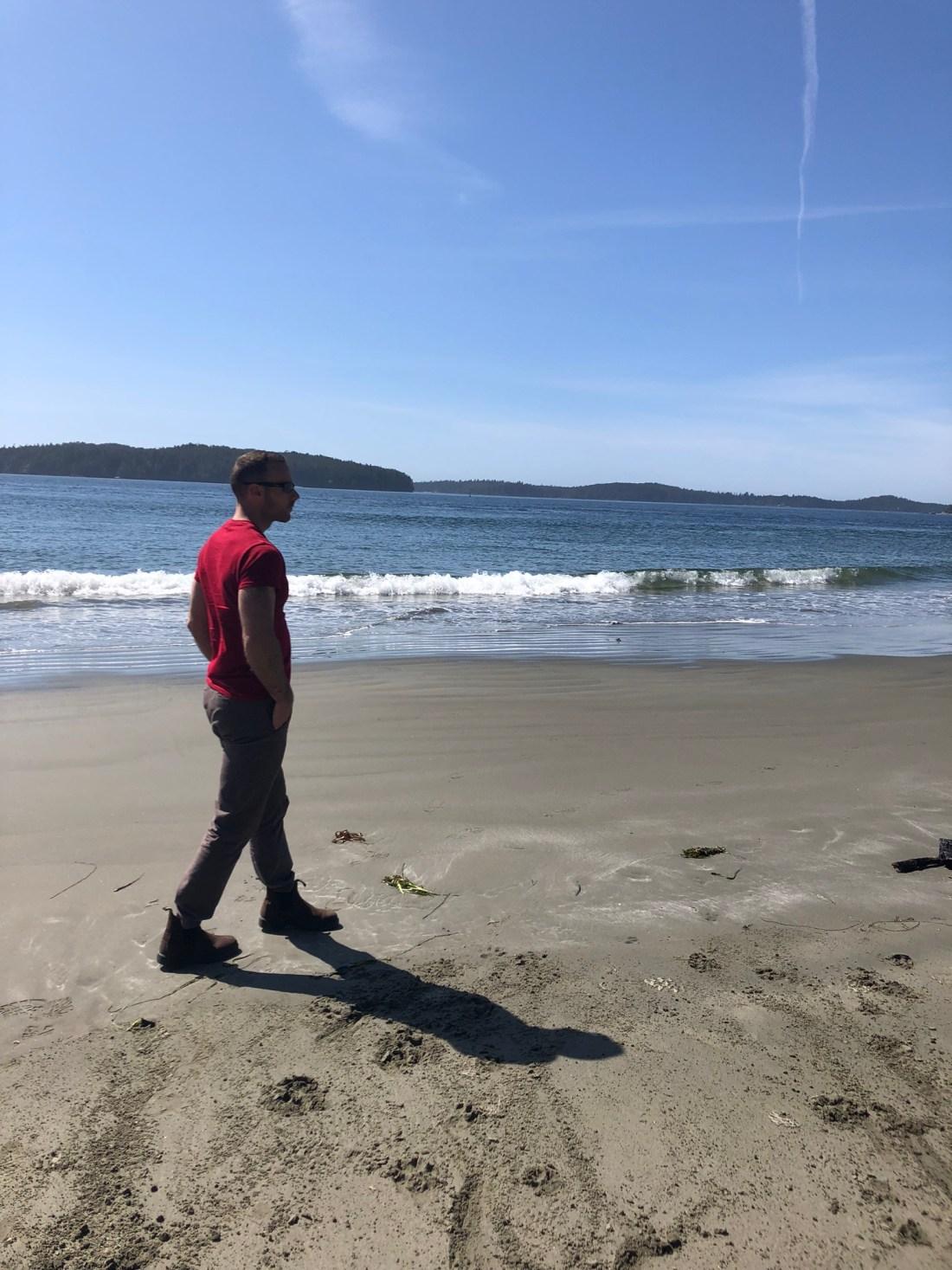 Walking on Tonquin Beach, Tofino