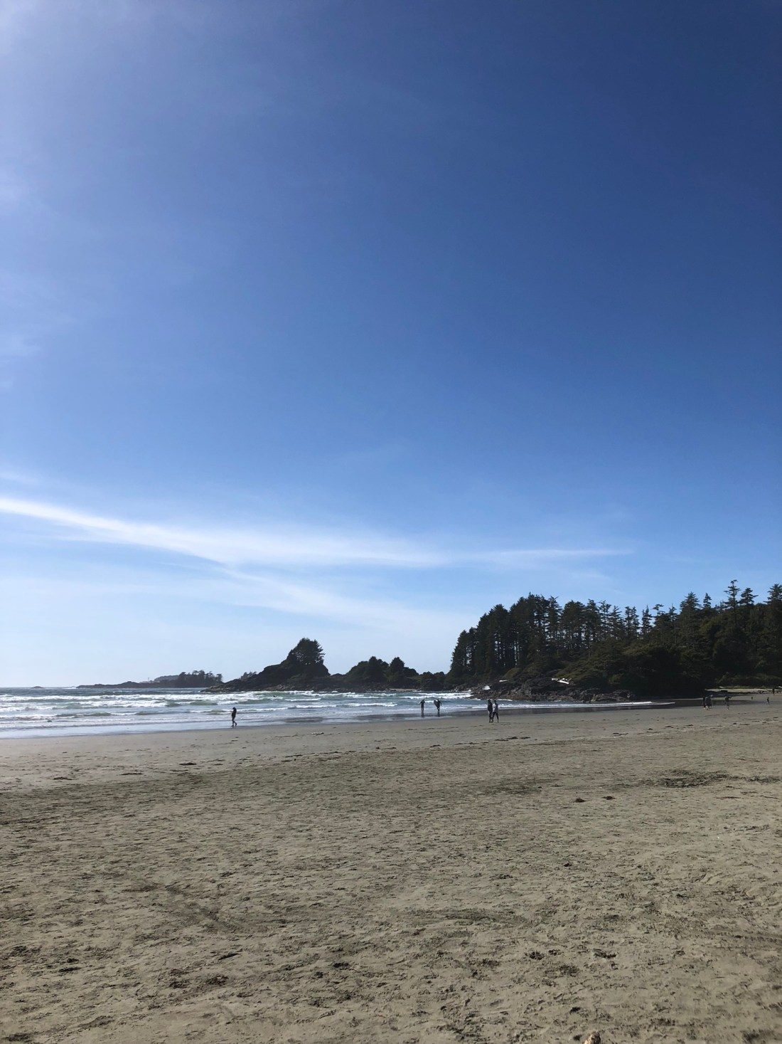 Cox Bay Beach in the morning