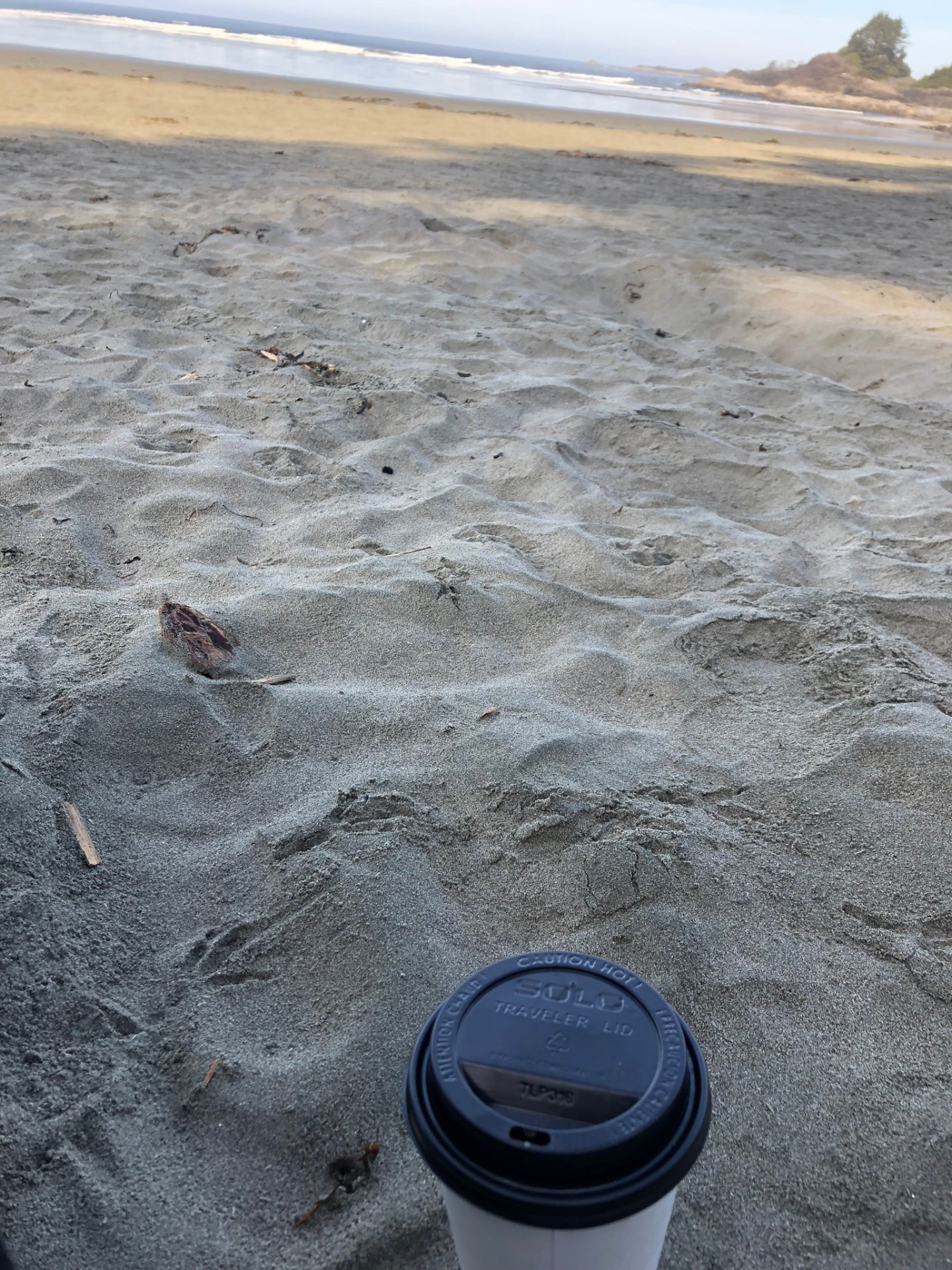 Coffee on Cox Bay Beach, Tofino