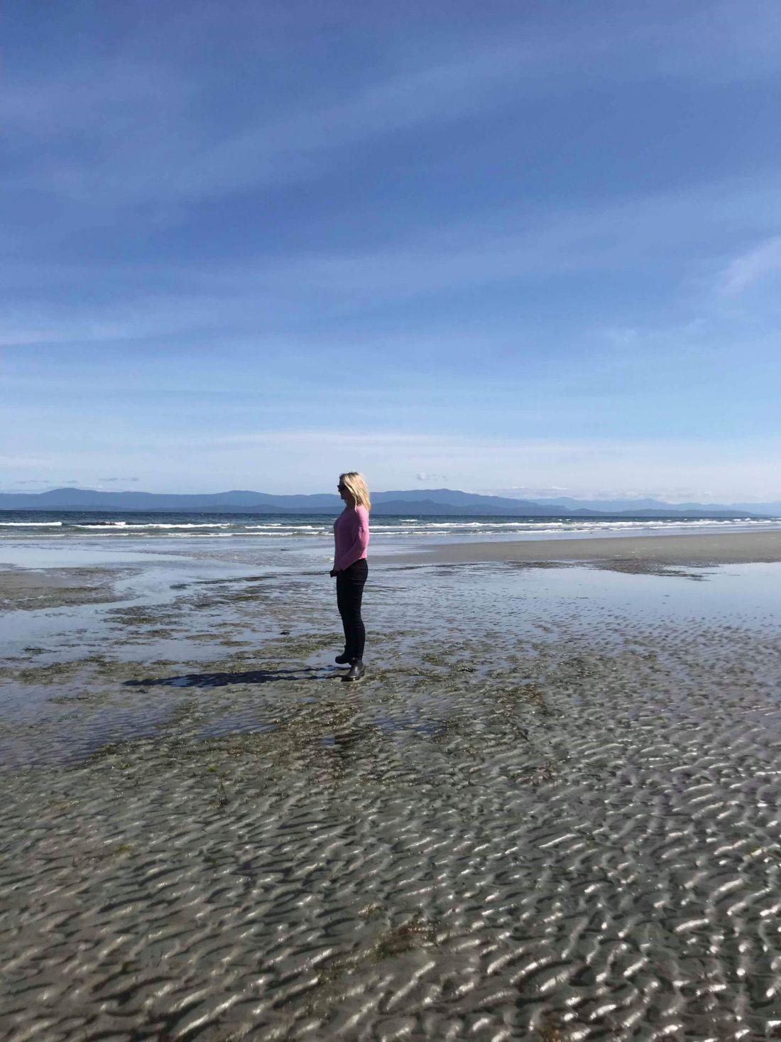 Laura on Qualicum Beach, Vancouver Island