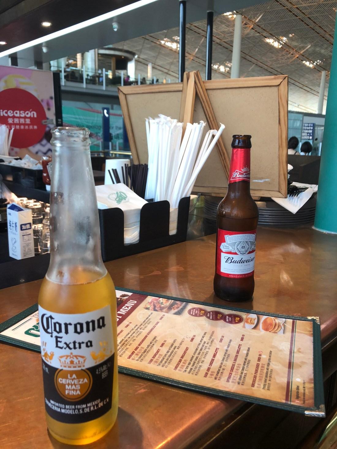 Beer in Beijing Airport