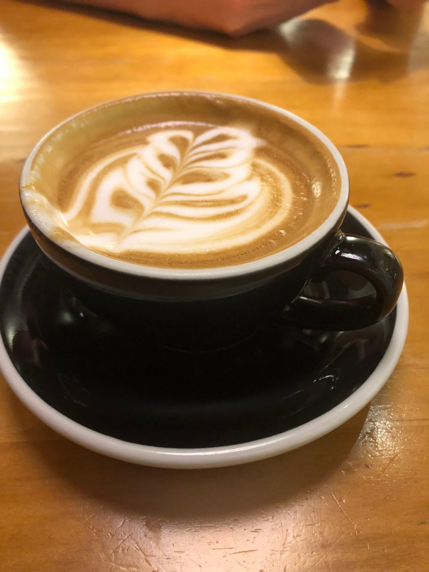 Latte from Black Sugar Coffee, Kowloon