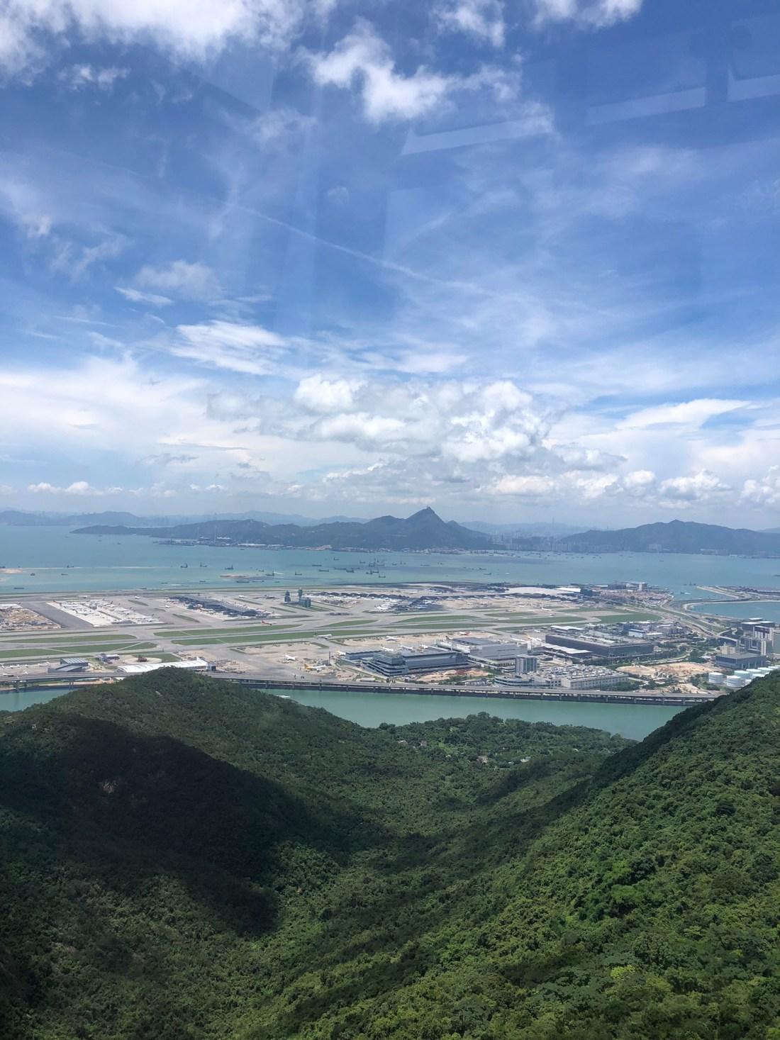 Airport views from Ngong Ping 360, Hong Kong
