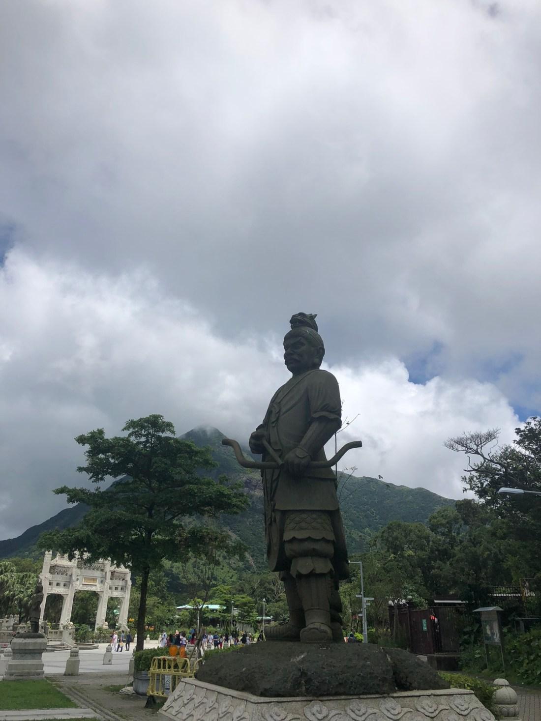 Statue in Ngong Ping village, Lantau Island