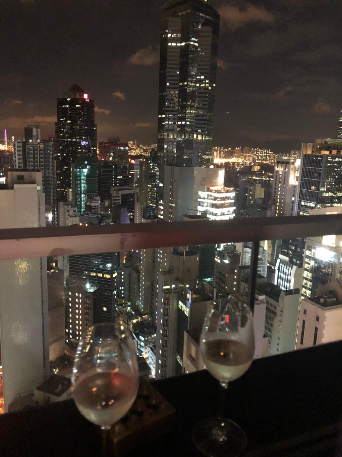 Rooftop drinks in Hong Kong