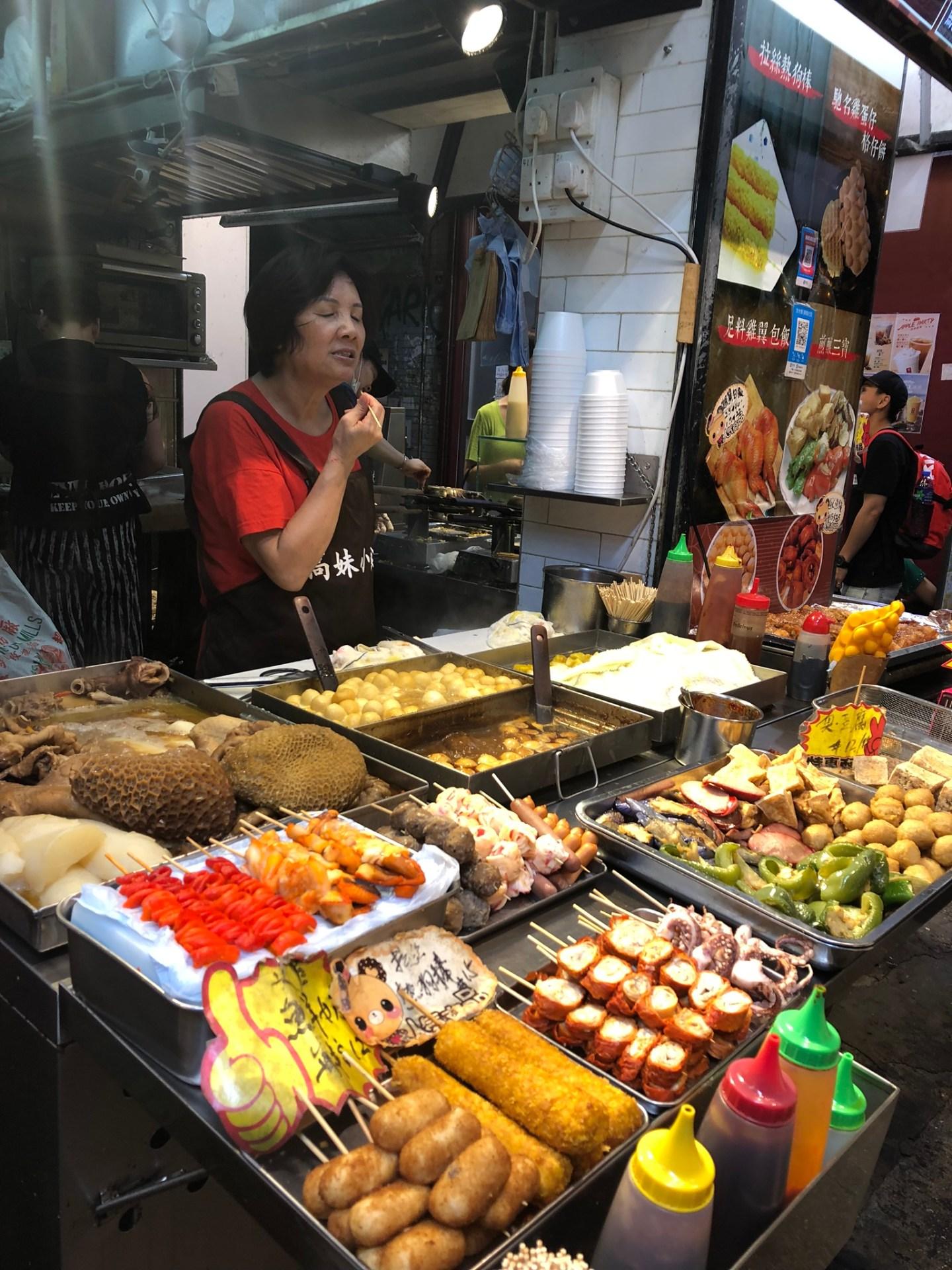 Street market of Hong Kong
