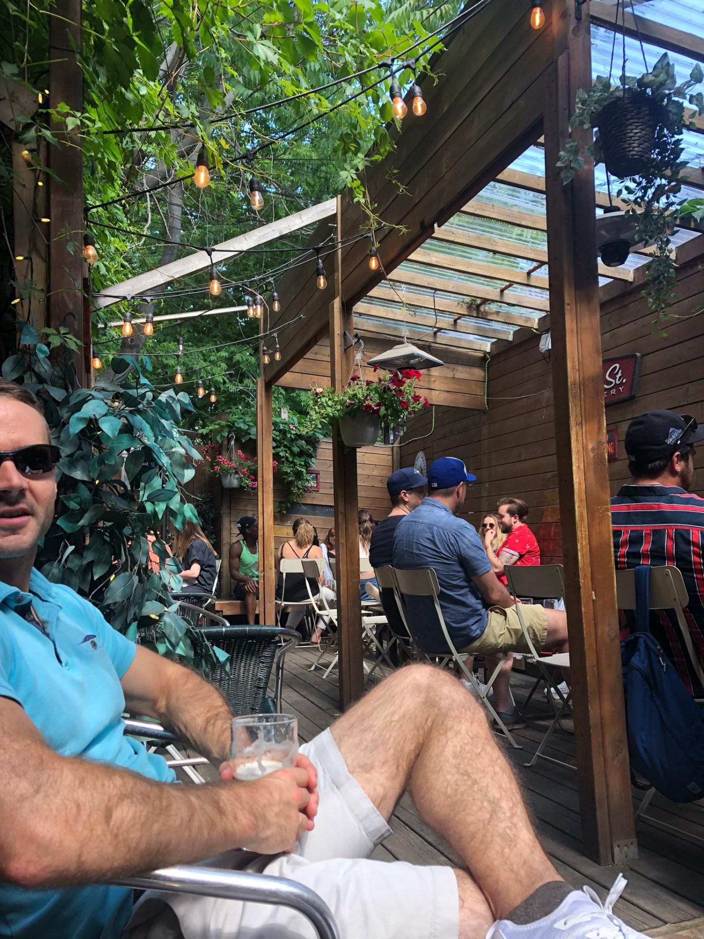 Summer in Toronto: Sweaty Betty's beer garden