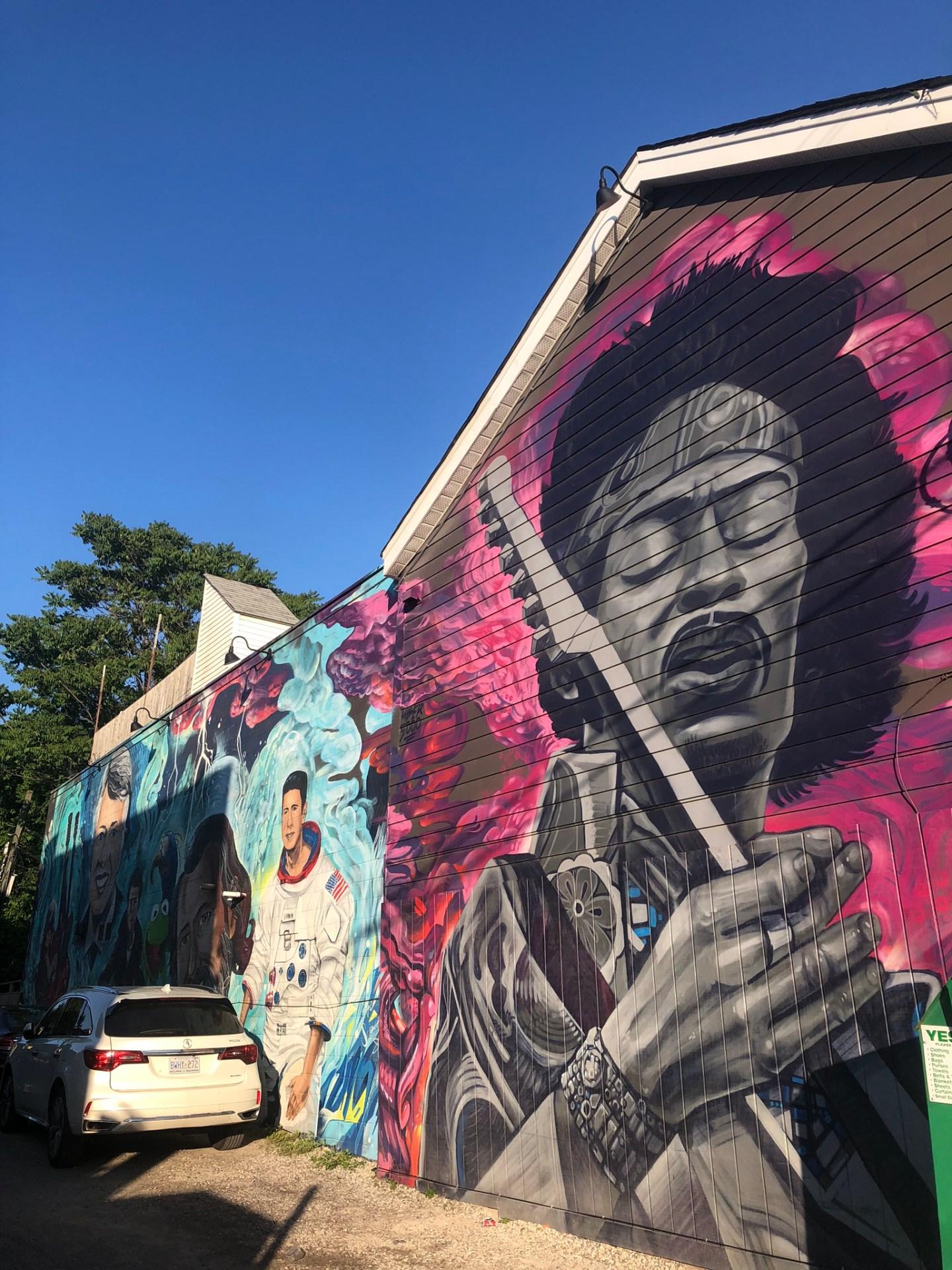 Street art near Trinity Bellwoods, Toronto