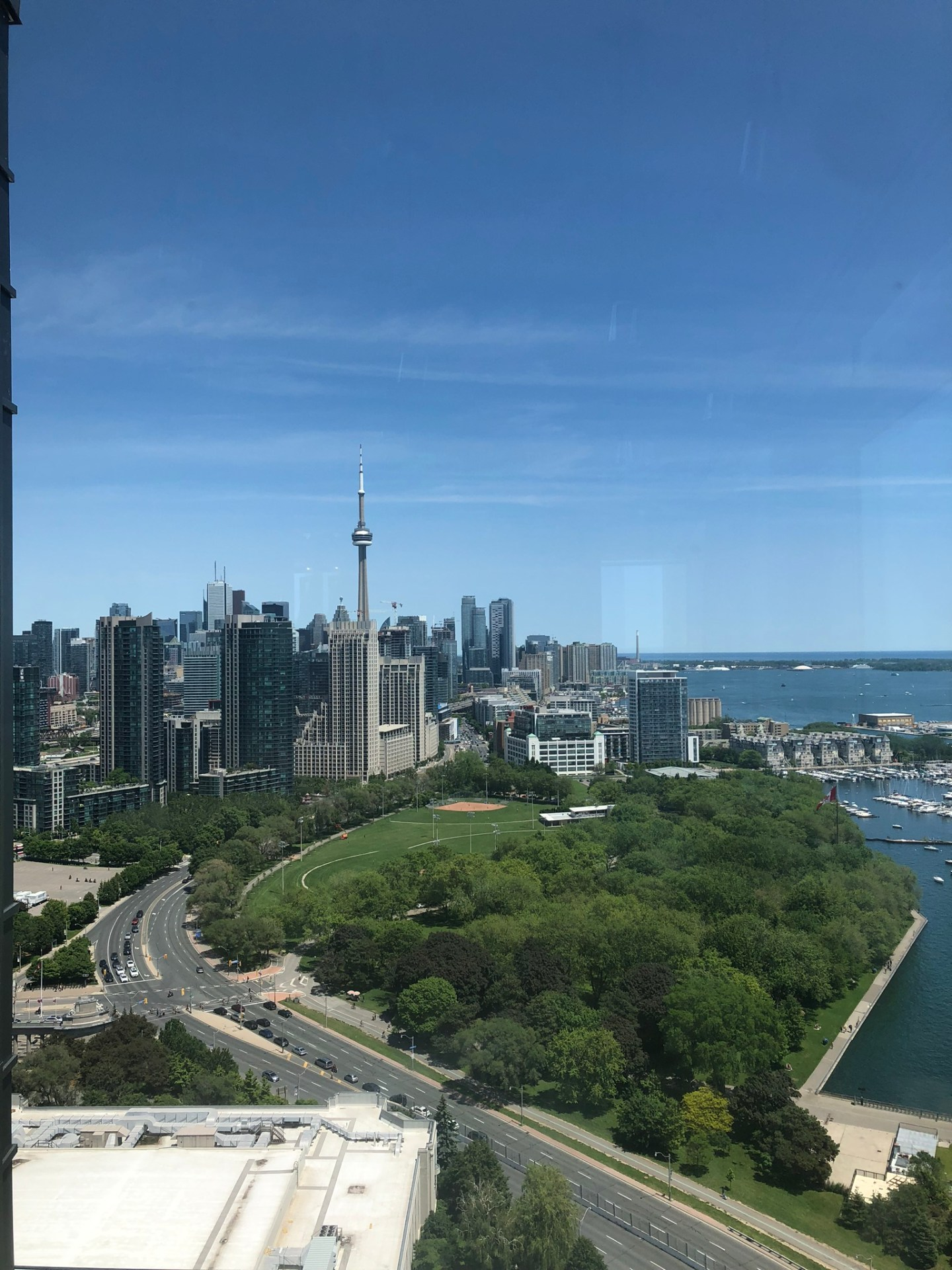 View of Toronto skyline from Hotel X