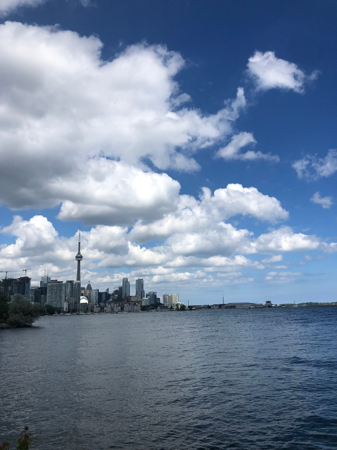 Toronto skyline over Lake Ontario