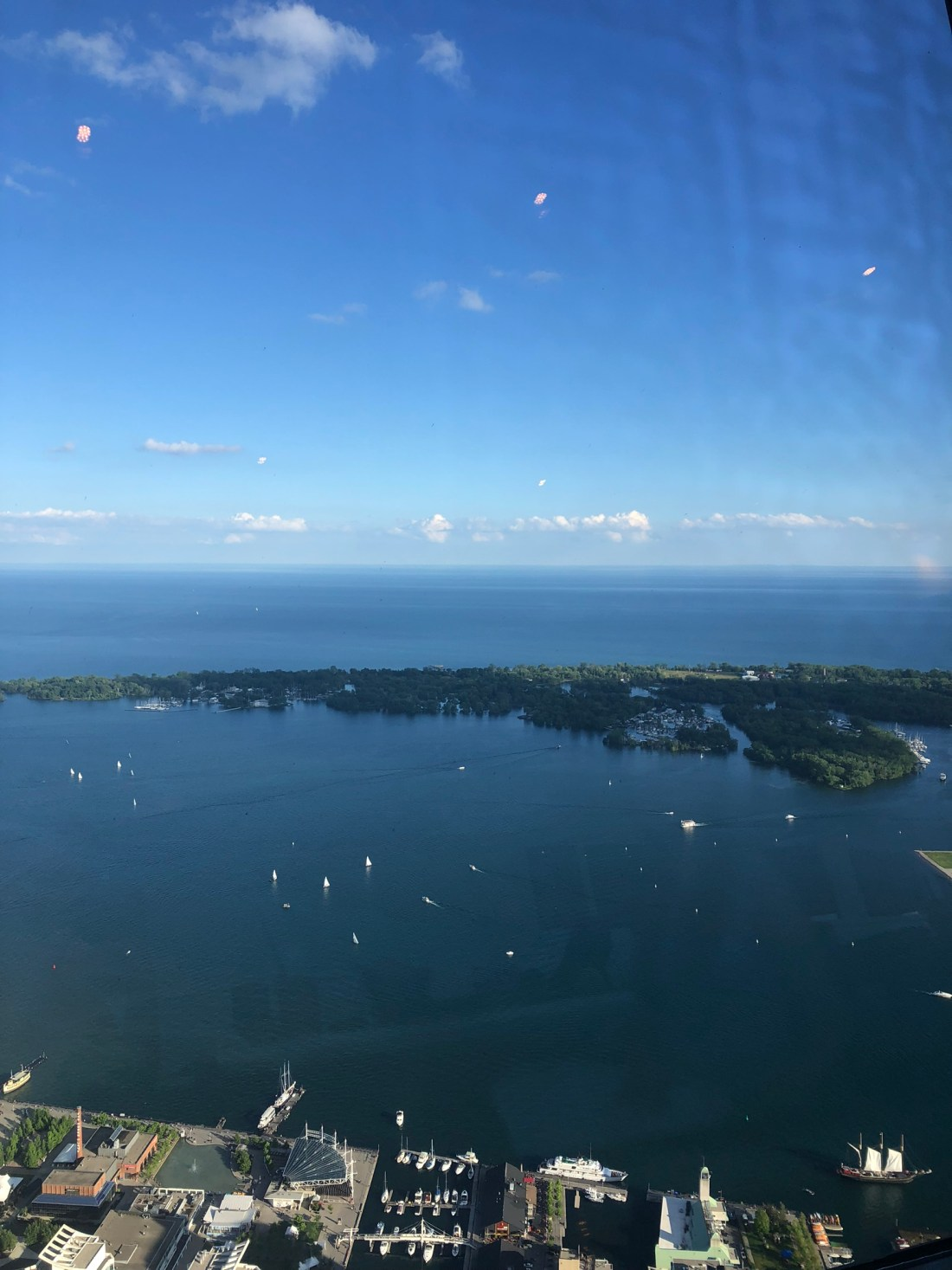 Summer in Toronto: views from the CN Tower over Lake Ontario