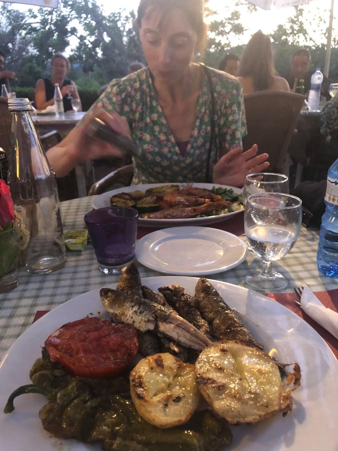 Barbecued fish at S'Argentera, Ibiza
