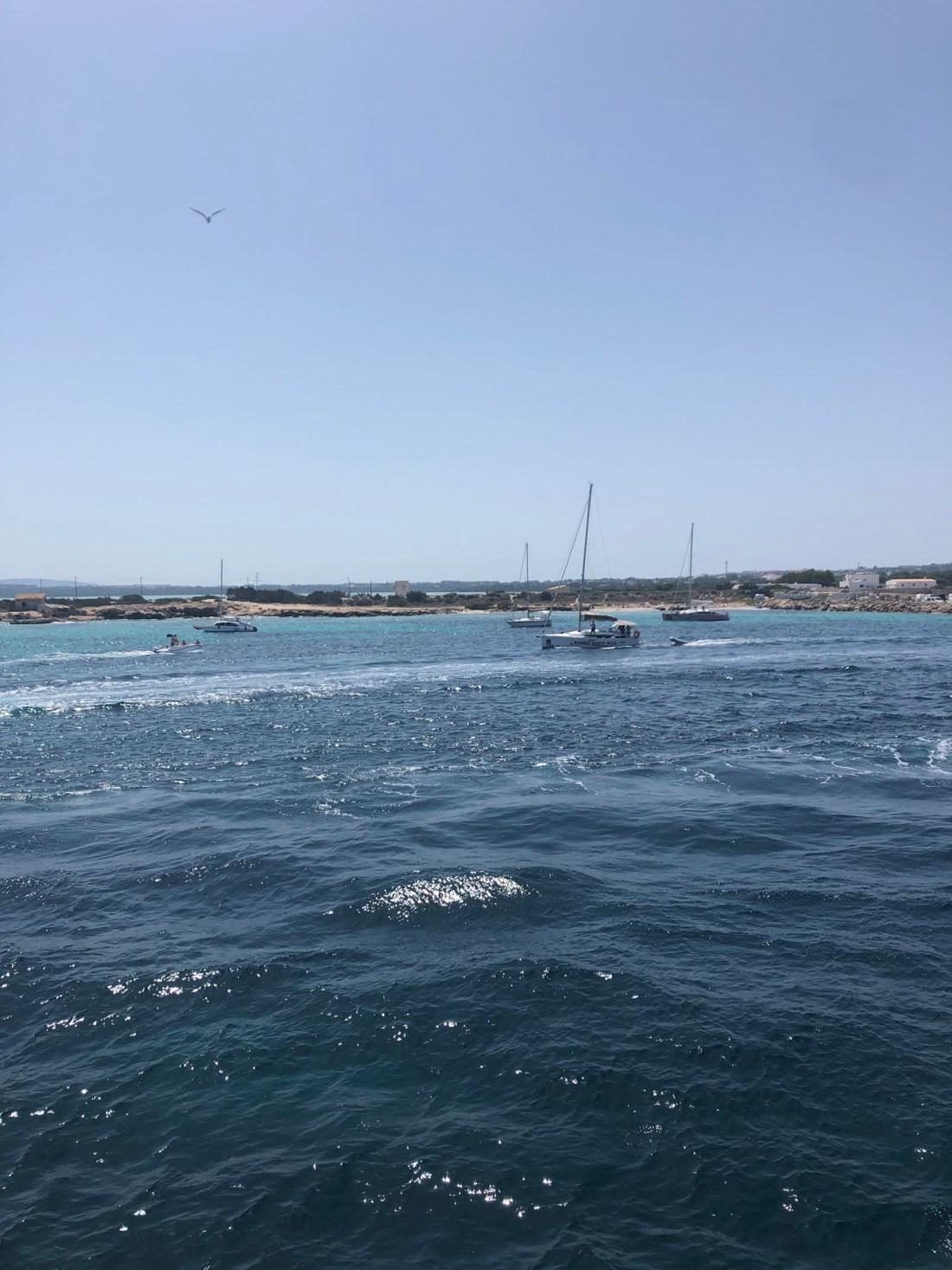 Sailing from Ibiza to Formentera