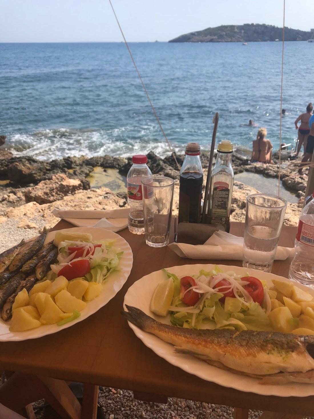 Best places to visit in Ibiza: Fish Shack, Talamanca, Ibiza