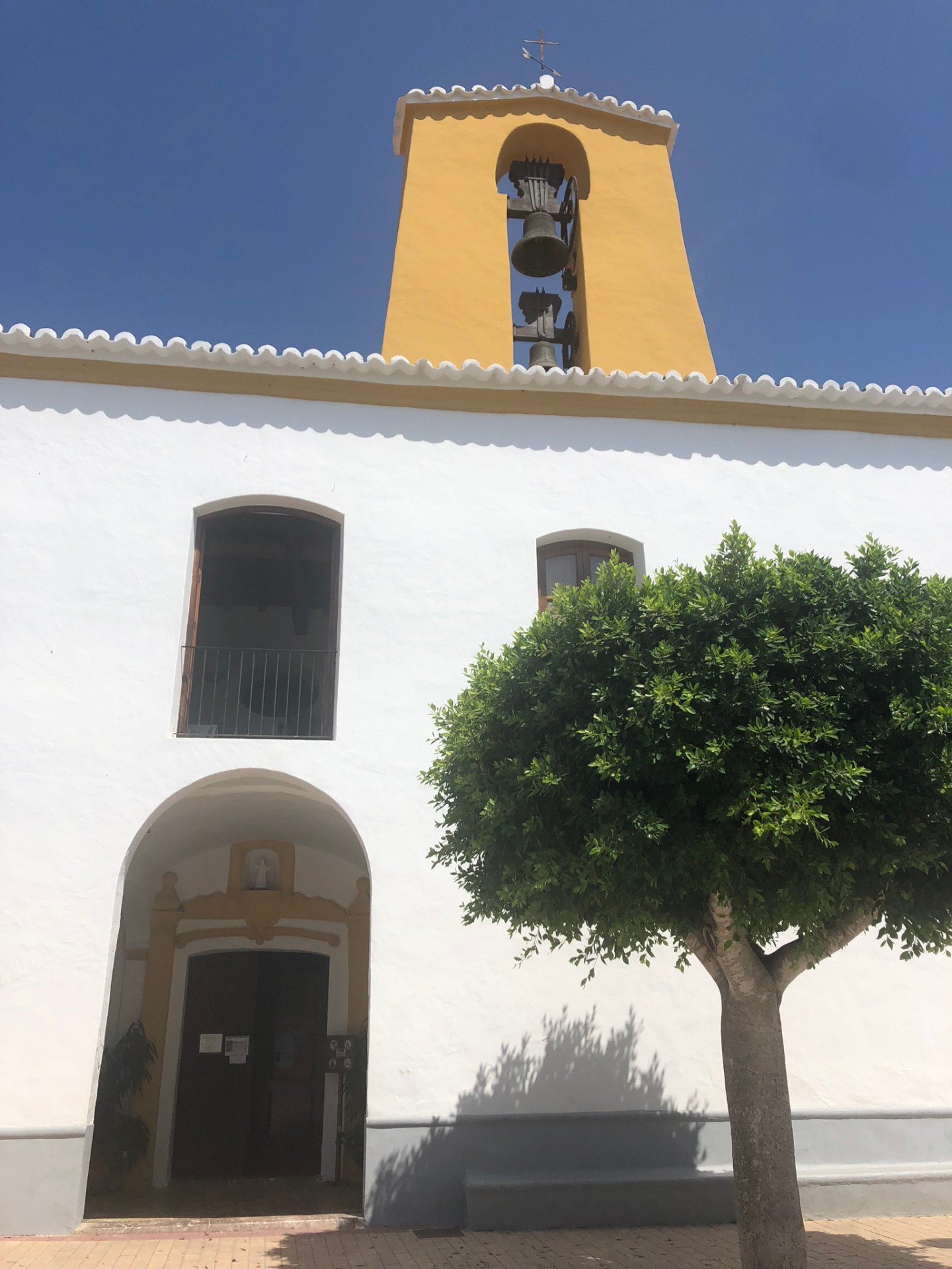 Best places to visit in Ibiza: Church in Santa Gertrudis, Ibiza
