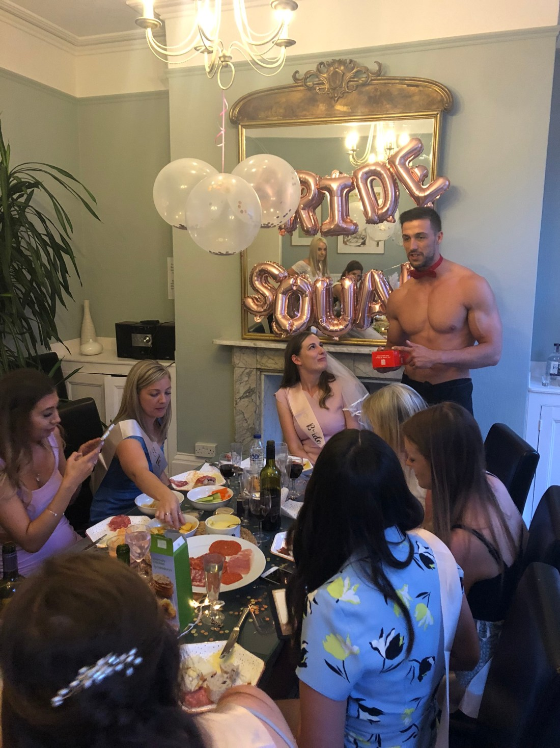 Butler in the buff at a Bath hen do