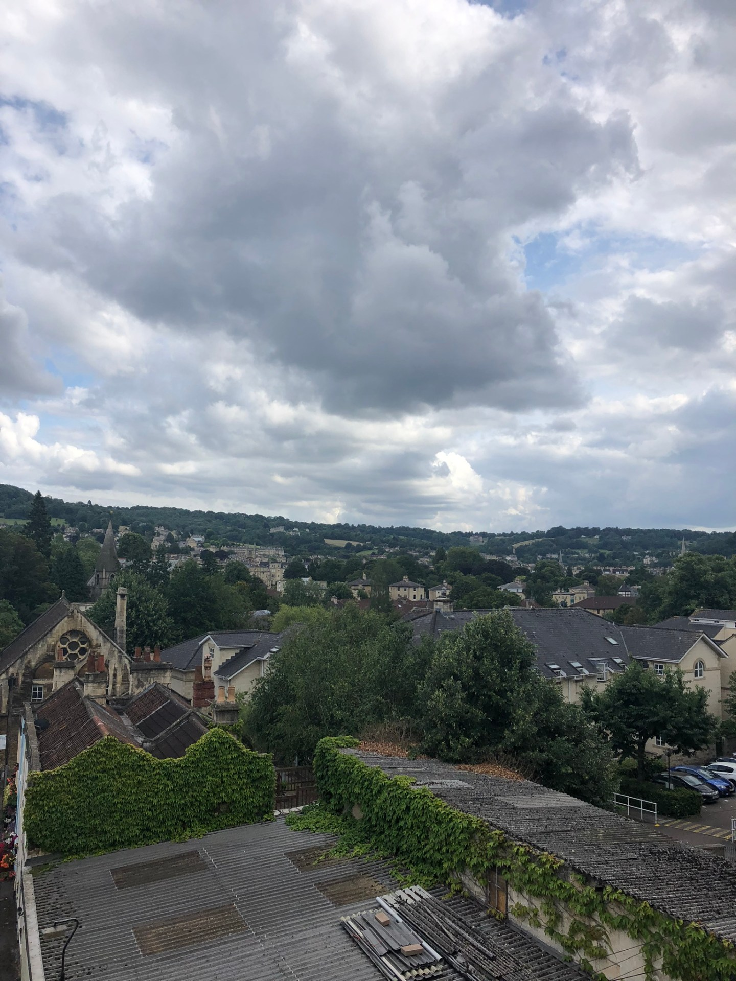 Views over Bath from the hen do house