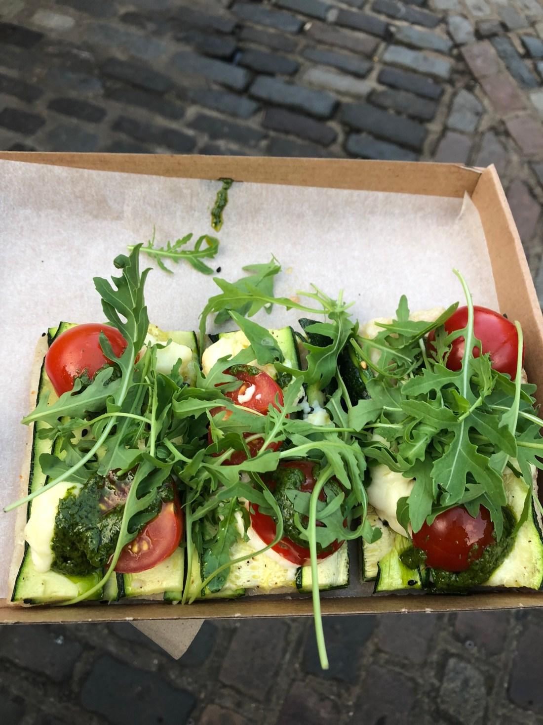 Pizza at Camden Market, London