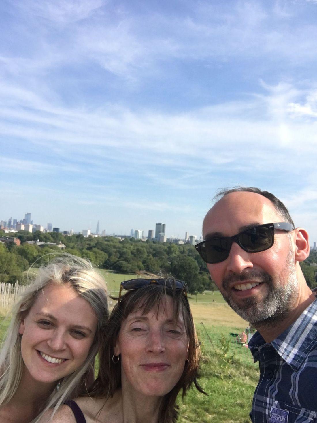Family enjoying the city views over London