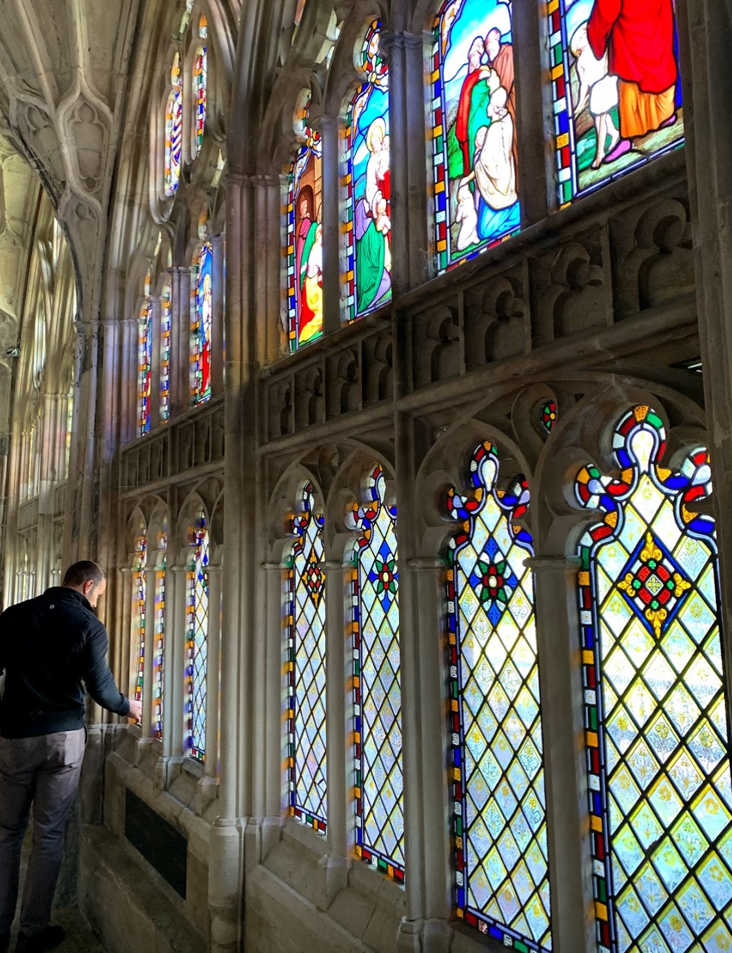 Stained glass windows, Gloucester Cathedral