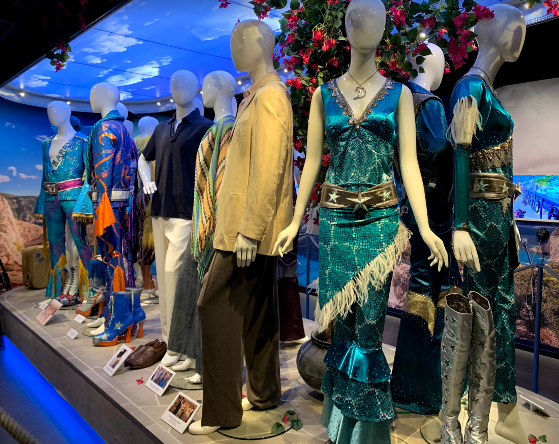 Costumes from Mamma Mia at the Abba Museum