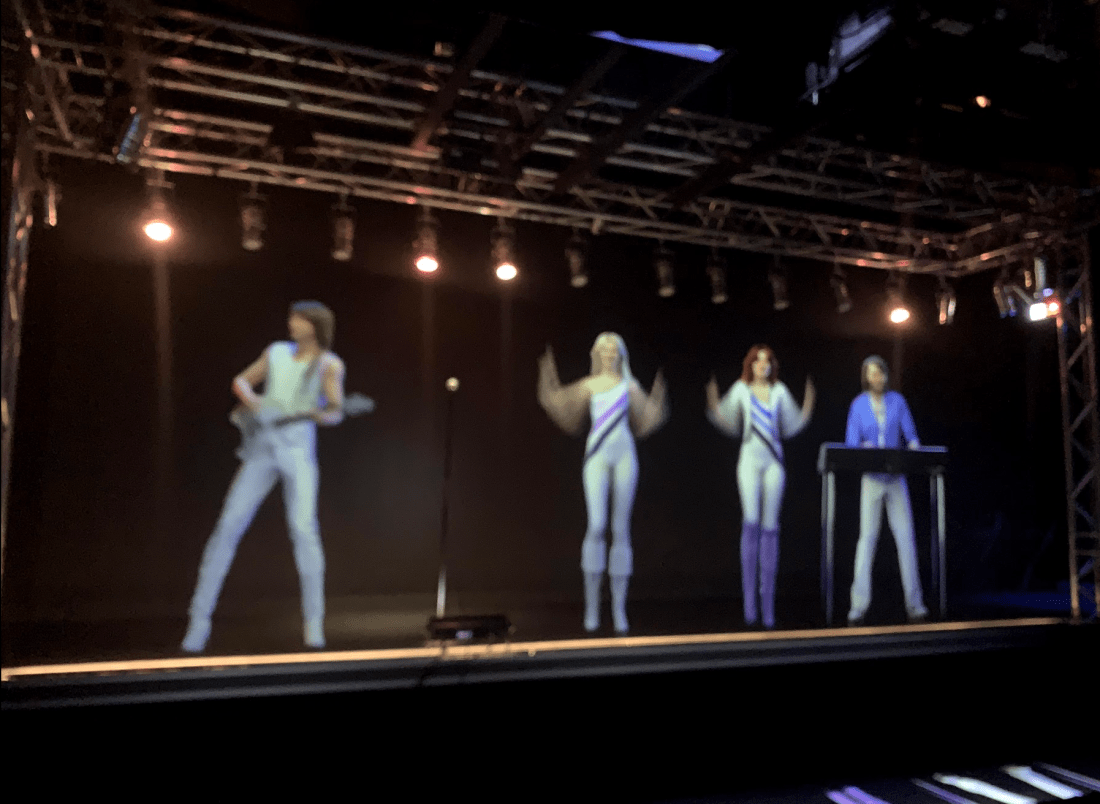 Hologram at Abba Museum in Stockholm