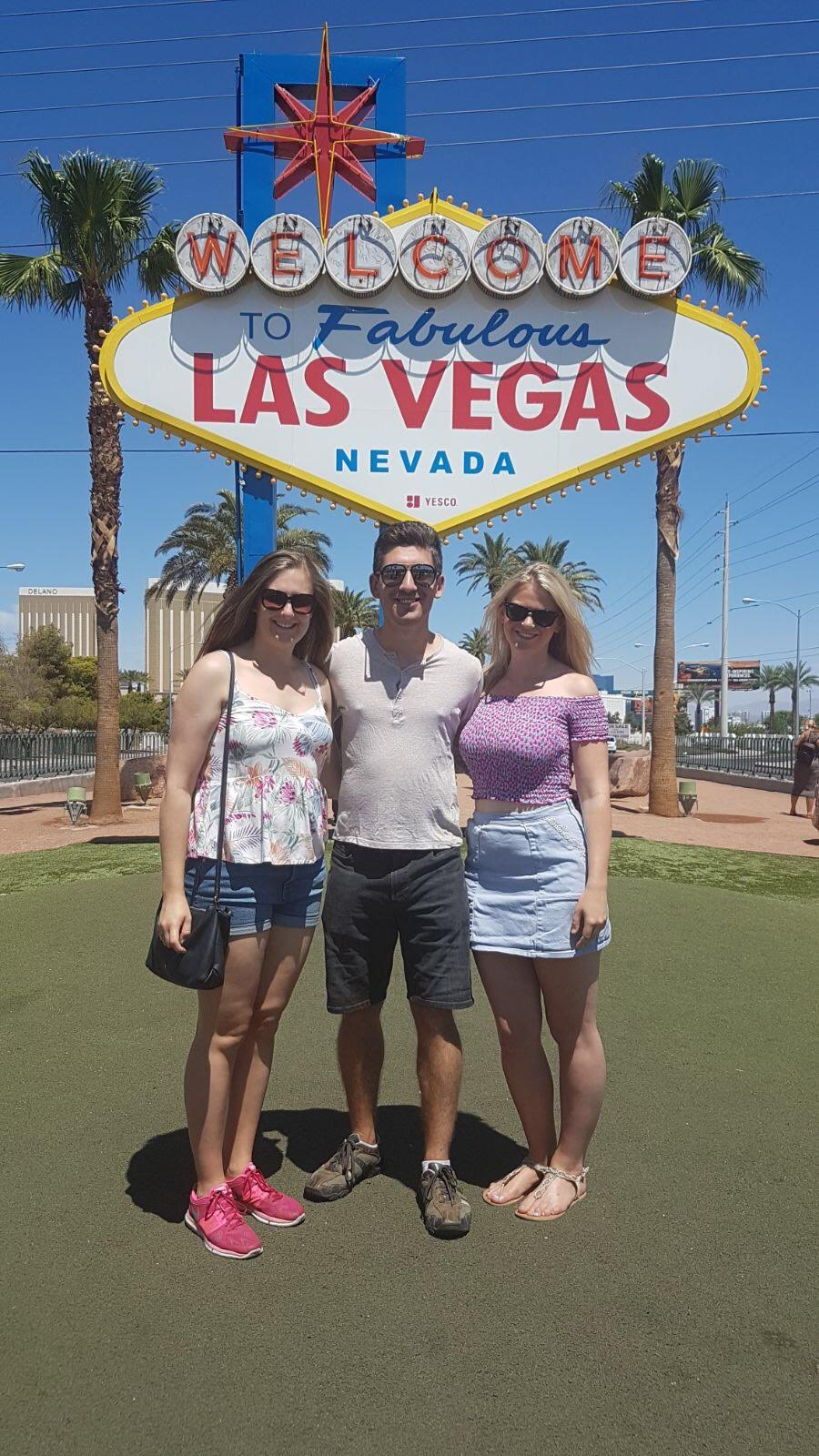 Friends at the Las Vegas Sign