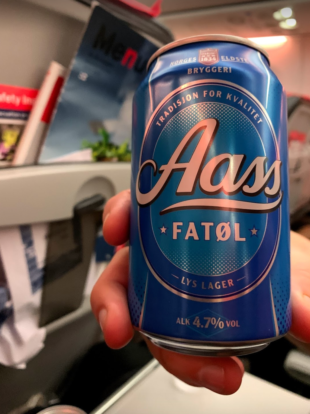 Aass beer on the way to Helsinki, Finland