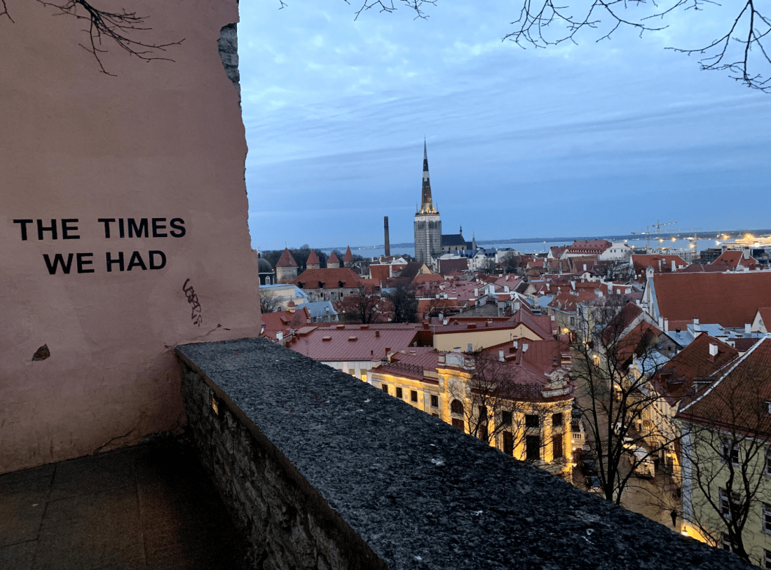 The Times We Had wall, Toompea Hill, Tallinn