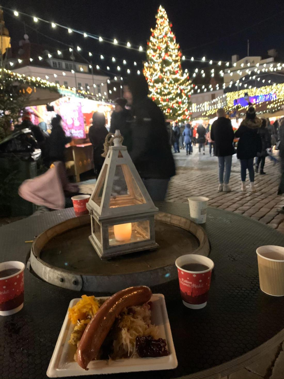 Food from the markets at the Tallinn Christmas Market