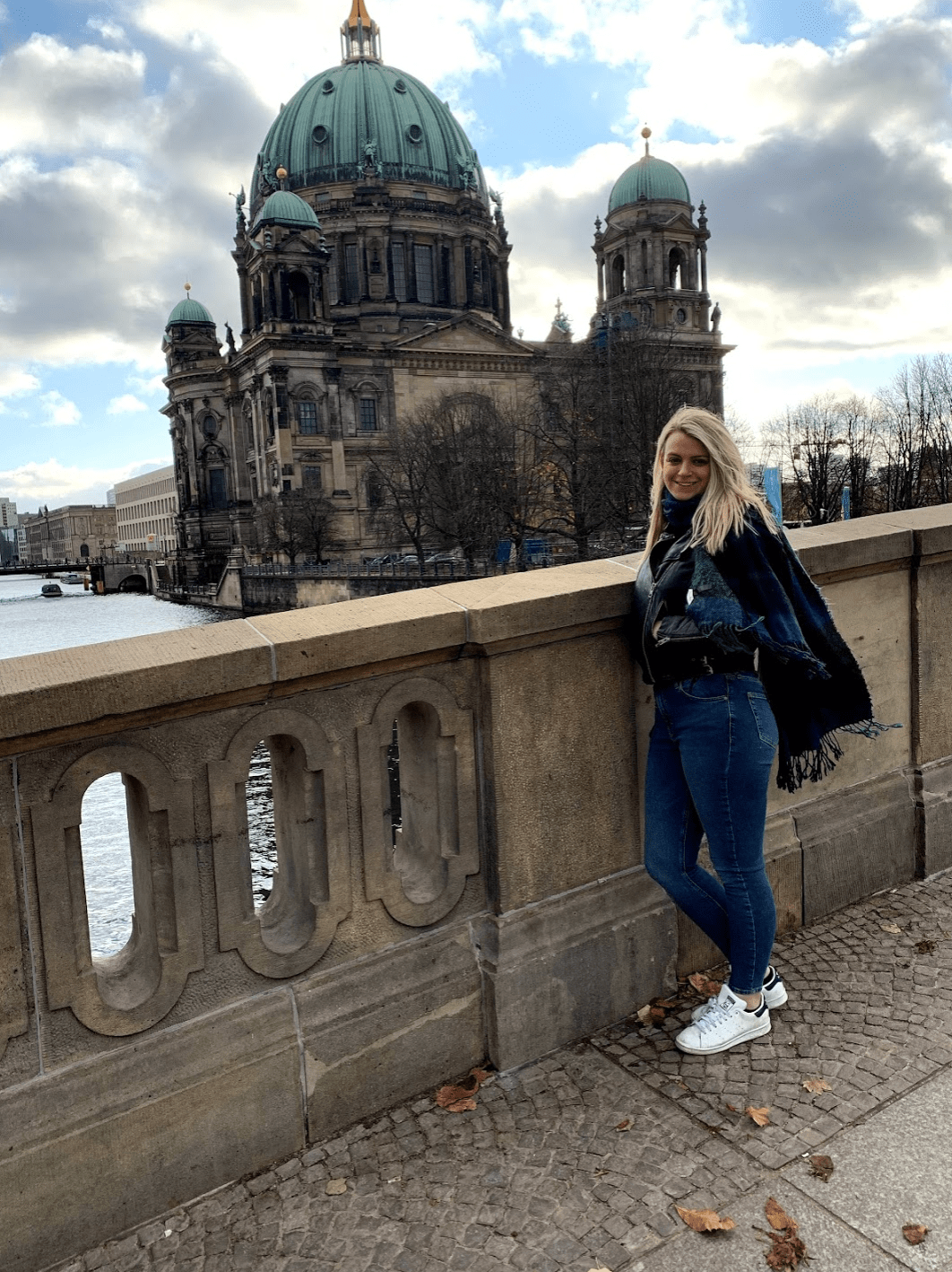 Laura with Berlin Cathedral