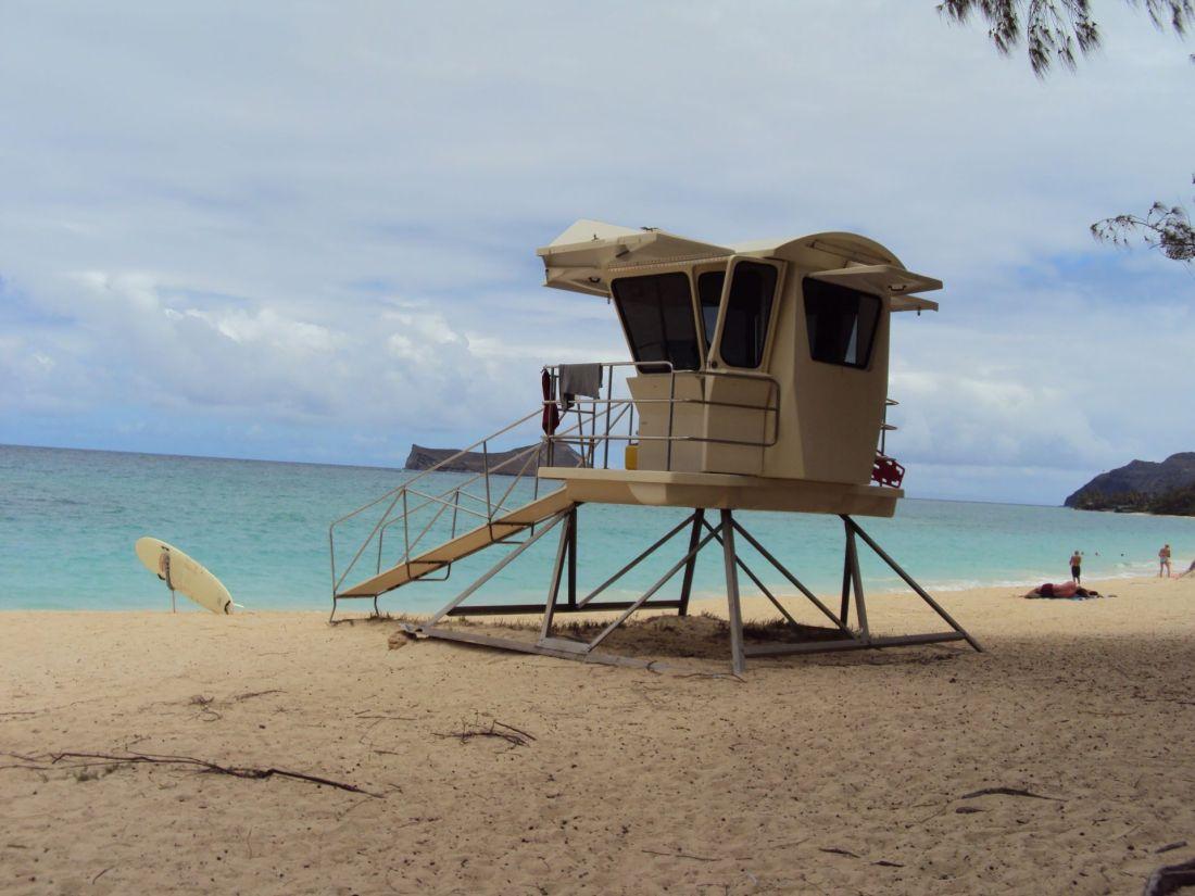 A beach in Oahu, Hawaii