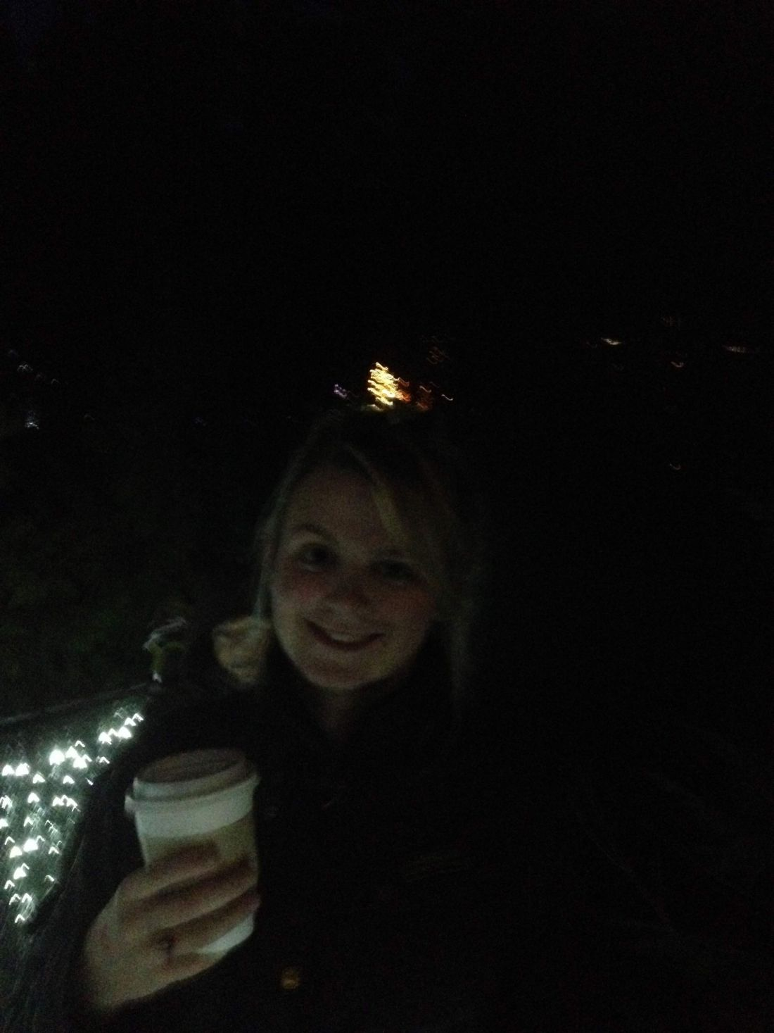 Laura at Vancouver's Canyon Lights