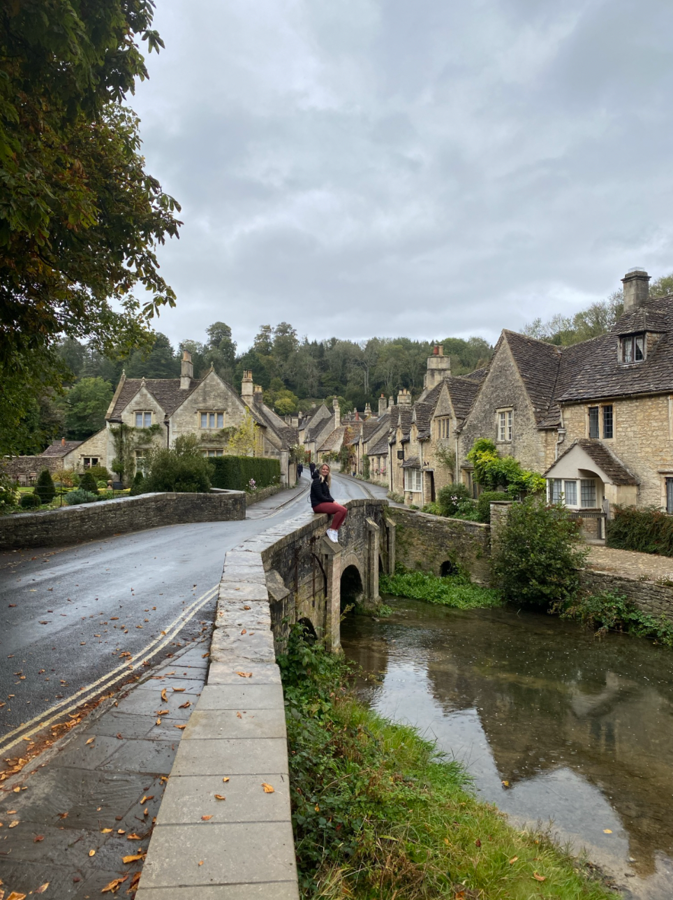 Laura in Castle Combe, Cotswolds