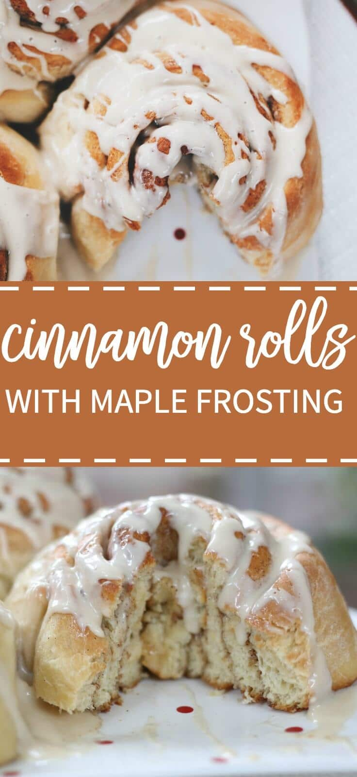 giant cinnamon rolls with maple frosting! These will be the star of your next brunch spread.