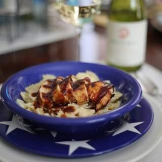 BBQ Chicken Cauliflower Alfredo Pasts