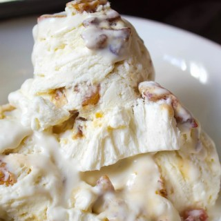 Bourbon Vanilla Ice Cream with Bourbon Bacon Brittle