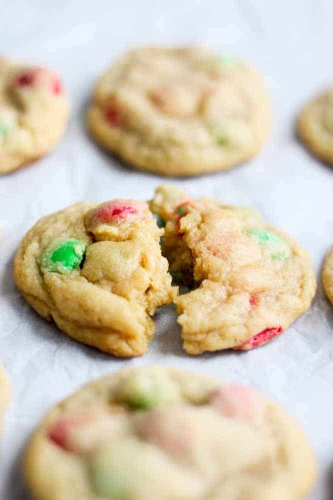 Soft And Chewy M M Cookies What Molly Made
