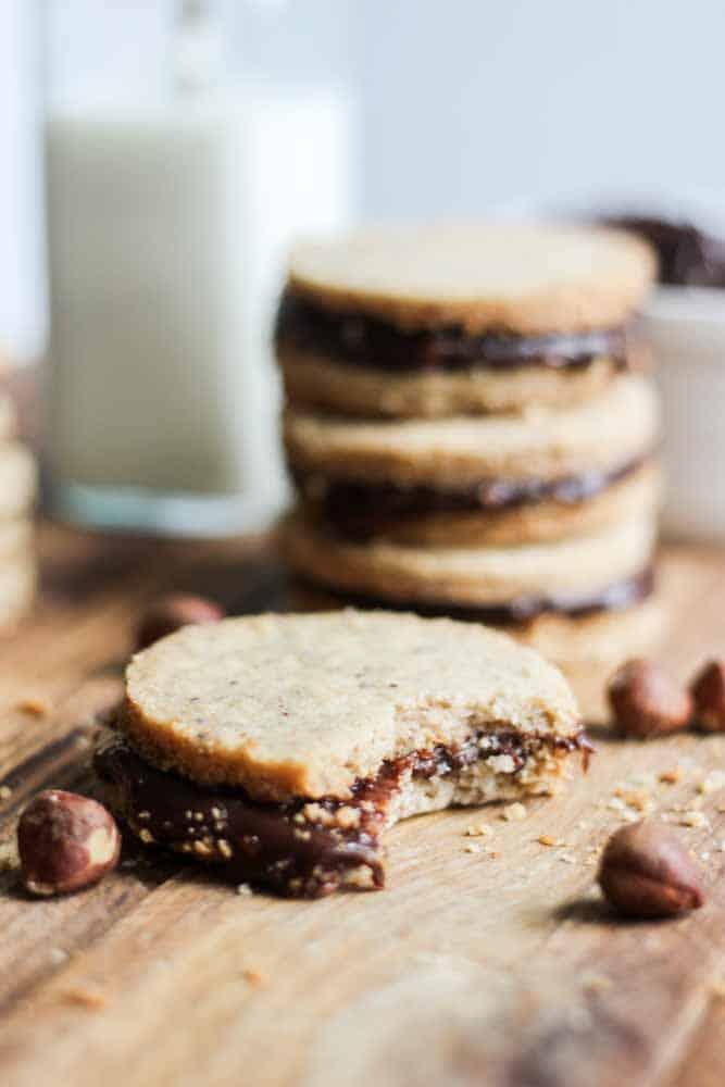 Hazelnut Shortbread Sandwiches with Nutella Ganache   What ...
