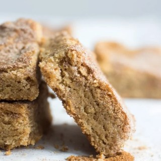 Gluten Free Snickerdoodle Blondies