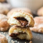 Nutella Stuffed Cinnamon Sugar Pretzel Bites