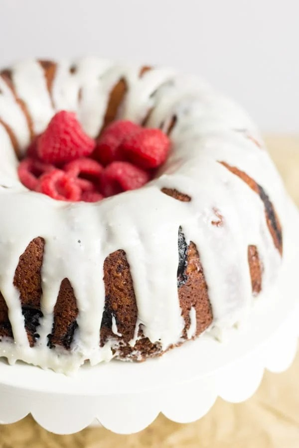 Soft, moist and easy to make, this Raspberry Cream Cheese pound cake is the best Valentines Day dessert recipe.