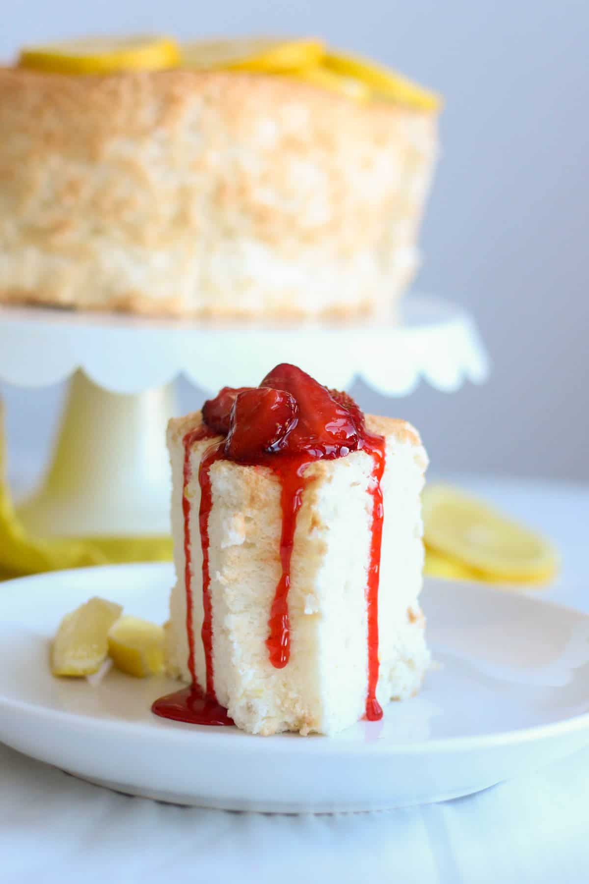 Lemon angel food cake with strawberry compote what molly made lemon angel food cake recipe forumfinder Gallery
